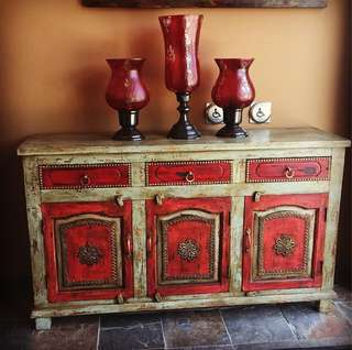 Unique Brass Inlay Sideboard for Hallway