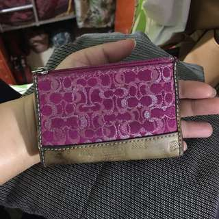 Authentic coach small coin purse with stains