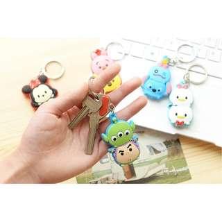 Rubber key chain - gantungan kunci kartun