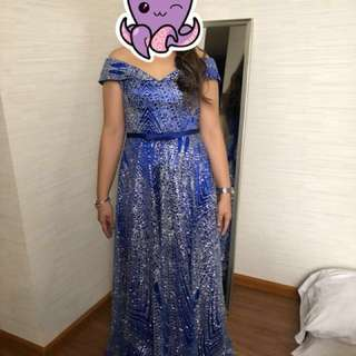 Glittering Royal Blue Gown