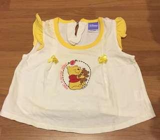 Disney Winnie The Pooh baby skirt/ blouse