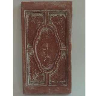 Vintage Decorative Terracotta Tile (Indian)