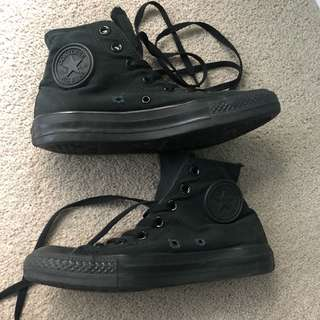 Black converse high top