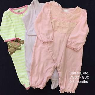 0-3M Baby Girl Sleepsuits/Overall/Frogsuits