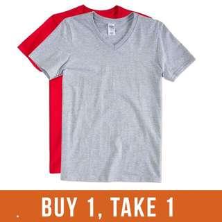 Plain Vneck Tee Shirt