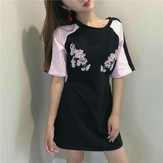 Floral waisted tee shirt