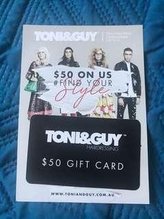 TONI&GUY GIFT CARD