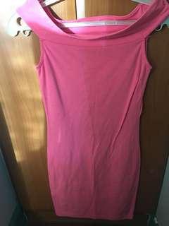 Miss Selfridge Neon Pink Bandage Dress