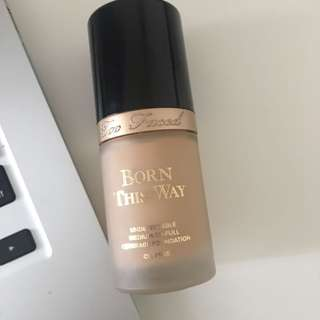 7/8 full new too faced born this way foundation in vanilla