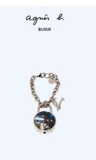 agnes b.photo鎖匙配鎖logo匙扣