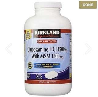 🇺🇸🇺🇸Kirkland 葡萄糖胺1500亳克+MSM1500亳克