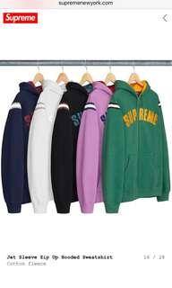 Supreme jet sleeve hoodie (NEW)