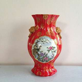 Old Vase Hand Painted Height 31cm Perfect Condition