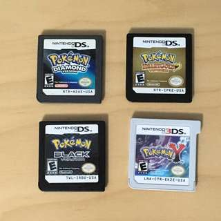 POKEMON DS/3DS GAME CARTRIDGES