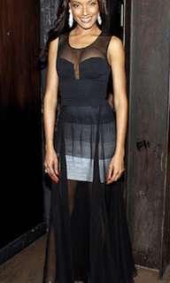 Prom Dress BCBG Black Sheer Dress Size 2/XS