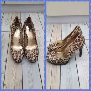Fiona Leopard Design High Heeled Pumps