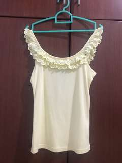 Ruffle Tank Top Yellow Chamomile