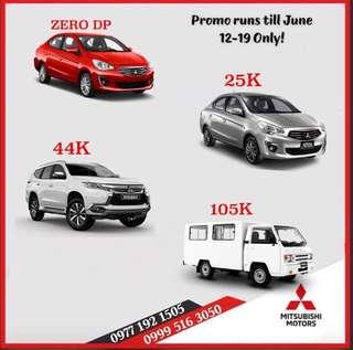 Great Deals Here! Reach your dream car! Avail 2018 Mitsubishi Montero Mirage L300!