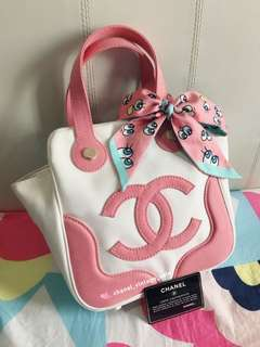 Chanel 限量粉紅色棉花糖手挽袋現貨