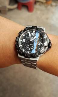 Tag Heuer Formula 1 Gulf edition with date