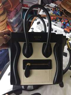 Copy only Celine mini luggage tote