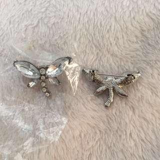 蝴蝶心口針(2個)butterfly