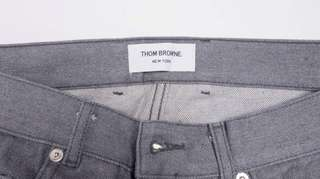 THOM BROWNE Grey Selvedge Denim Jeans
