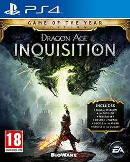 WTB Dragon age inquisition GOTY