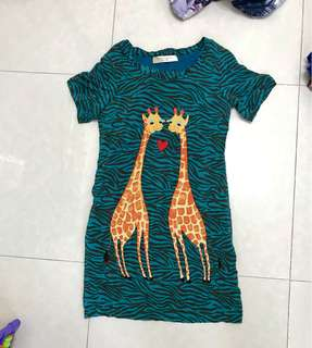 Tsumori tsisato giraffe pocket dress large