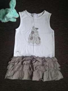 Baby Girl Sleeveless Cotton Dress