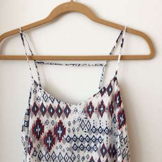 Tribal strappy casual top