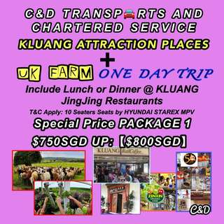 JB Kluang UK Farm + Kluang Attraction Places One Day Trip • Malaysia Transports Service