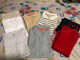 Pre owned / used t-shirts and polo shirts