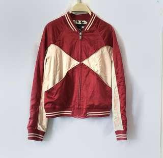 Marc Jacobs Bi-Color Satin Bomber Jacket