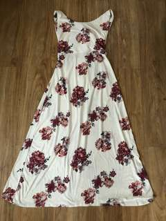 White floral long dress (new)