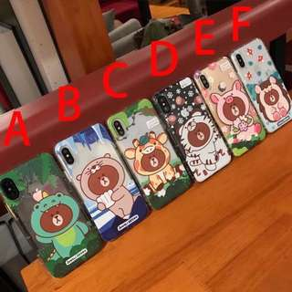 Brown bear line friends iPhone case iphone cover (PO)