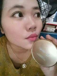 Bedak Bioaqua Exquisite and delicate BB cream air cushion pack Gold Case SPF 50+++[#03 Light Beige]