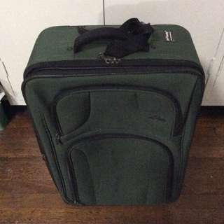 Imported moss green luggage