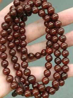 印度小叶紫檀0.8爆星108念珠