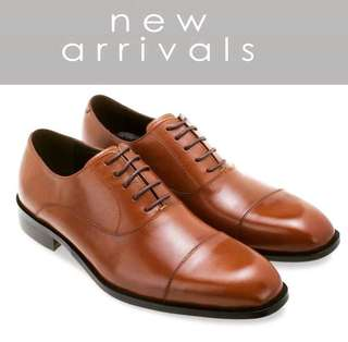 Oxford laced up captoe leather shoes Mac& Gill