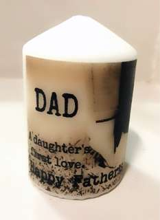 Father's day customised candle