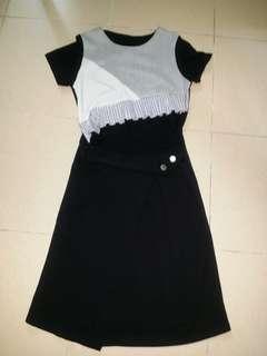 New Grey black Dress