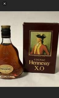 old Hennessy xo 50ml box, 不連酒辦,淨盒,每個