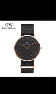 Daniel Wellington 40mm DW classic black rose gold black Cornwall