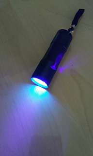 🚚 Bright 9 LED Ultra Violet Torchlight
