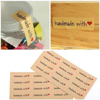 24pcs Handmade with love stickers