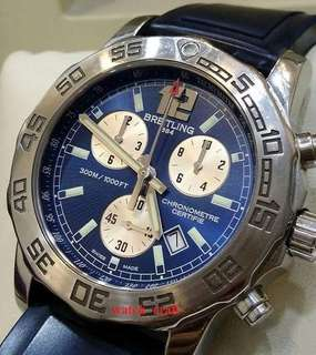 Used Breitling Colt Chronograph II Blue Dial Quartz 44mm Steel/Rubber (Watch only / No Box or Paper)