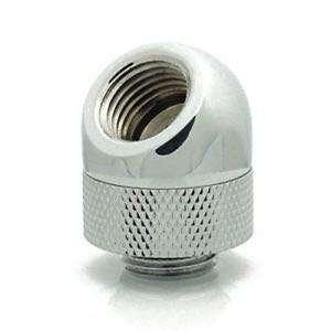 """電腦 水冷 接頭 45度 XSPC 45 Degree Rotary Adapter Fitting, G1/4"""" Threads (Chrome Finish)"""