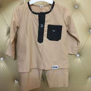 Baju Melayu Baby c/w Sampin