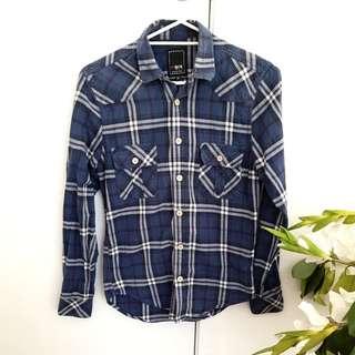 🎯Tartan Collar Shirt